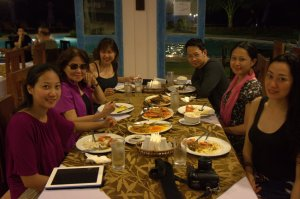 Trisha Sebastian Dinner with Family in Microtel Inn and Suites Puerto Princesa Palawan